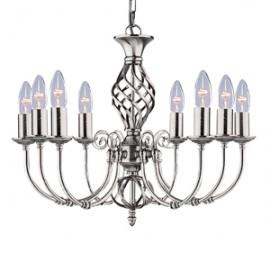 Searchlight 8 light Zanzibar satin silver fitting