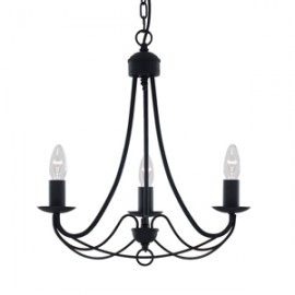 Searchlight 3 light Maypole fitting in black