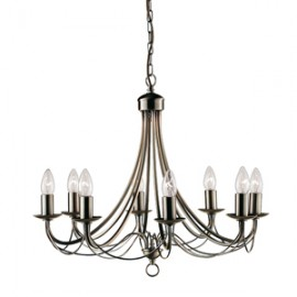Searchlight 8 light Maypole fitting in antique brass