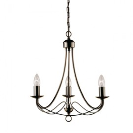 Searchlight 3 light Maypole fitting in antique brass