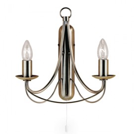 Searchlight 2 light Maypole wall light in antique brass