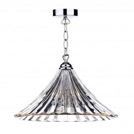 Dar Ardeche 1 light large pendant clear glass