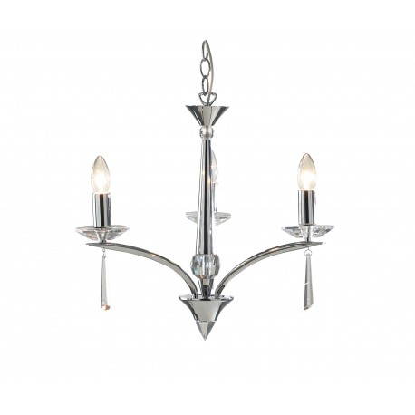 Dar Hyperion 3 light pendant polished chrome