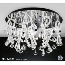 Diyas Class 20 light white crystal ceiling light