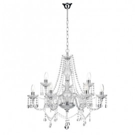 Dar Katie Crystal 9 arm chandelier with barley twist arms