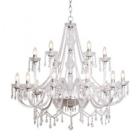 Dar Katie Crystal 18 arm chandelier with barley twist arms