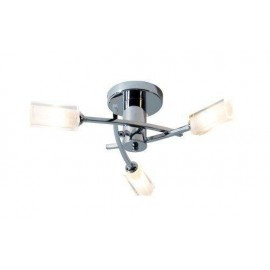 Dar Morgan 3 light semi flush polished chrome