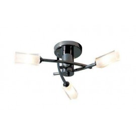 Dar Morgan 3 light semi flush black chrome