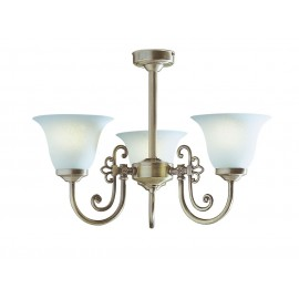 Dar Woodstock 3 light antique brass comes with glass