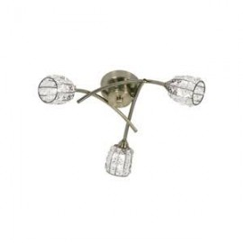 Oaks Lighting 5157-3AB Naira 3 light ceiling antique brass