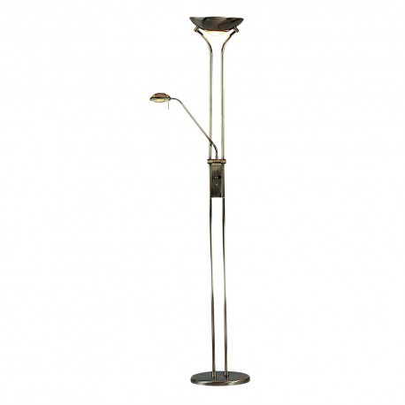Searchlight 4329AB Mother and child floor lamp Antique brass