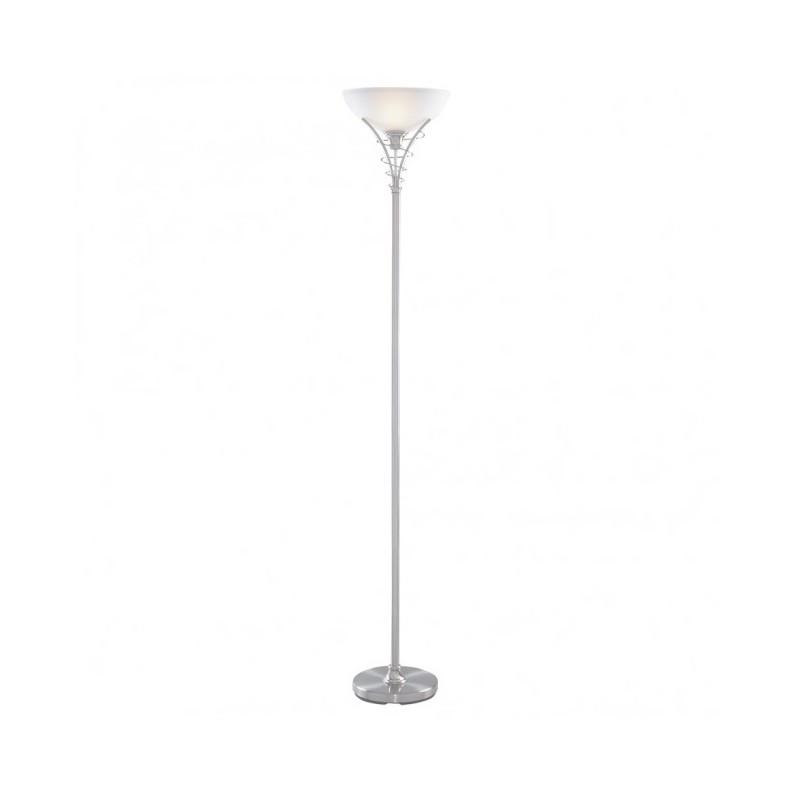 Linea Modern Floor uplighter Satin chrome