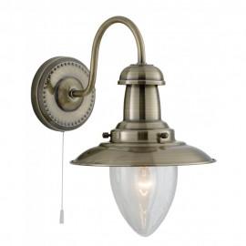 Searchlight 5331-1AB Fisherman Wall light antique brass finish