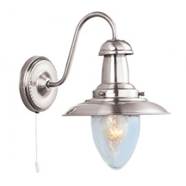 Searchlight 5331-1SS Fisherman single wall light satin silver finish
