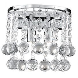 Searchlight 2402-2CC Hanna Wall light crystal ball decoration