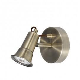 Searchlight 1221AB Eros 1 light spotlight Antique brass