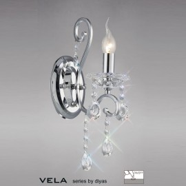 Vela 1 light wall light polished chrome