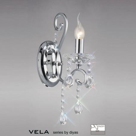 Vela 1 light wall light polished chrome
