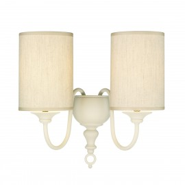 Flemish 2lt wall light cream