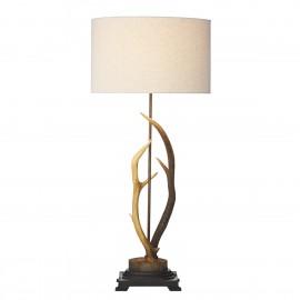 Antler table lamp highland rustic david hunt lighting