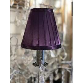 Mauve 6 inch candle shade