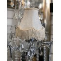 classic brocade Ivory 6 inch candle shade