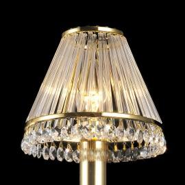 Diyas Crystal clip on shade gold plated