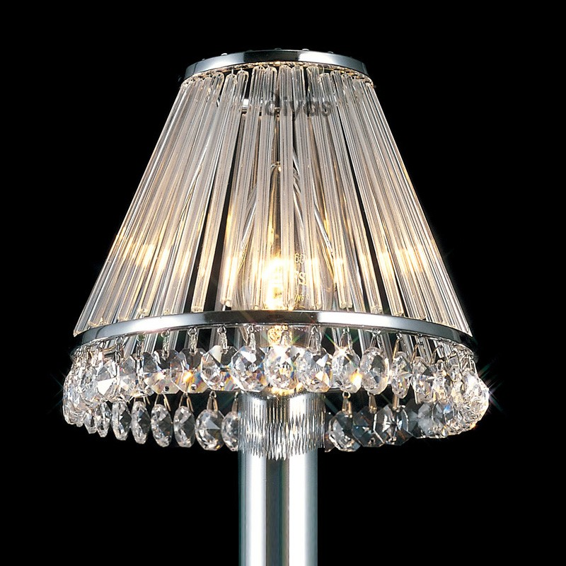 Clip On Chrome Shade, Chandelier Table Lamp Shades Uk