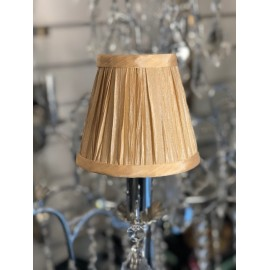 "AMY 5"" PALE GOLD PLEAT SHADE"