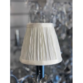 "AMY  5"" CREAM PLEAT SHADE"