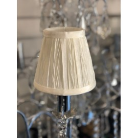 "AMY 5"" IVORY PLEAT SHADE"