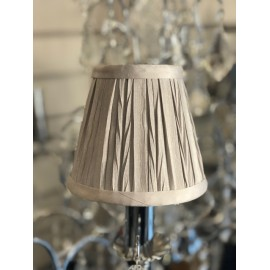 "AMY 5"" SOFT GREY PLEAT SHADE"