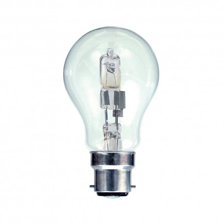Halogen GLS BC 42W Energy Saving lamp 60W light output sold singly