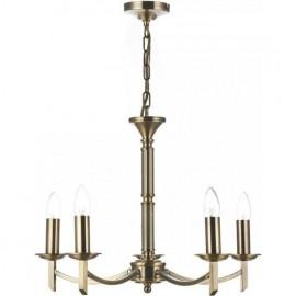 Ambassador 5 light pendant Antique Brass