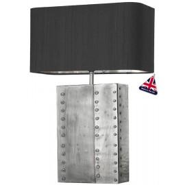DAVID HUNT LIGHTING, Rivet pewter chrome t/lamp (base only)