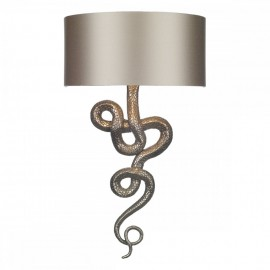 DAVID HUNT LIGHTING, Snake bronze wall light shade inc.