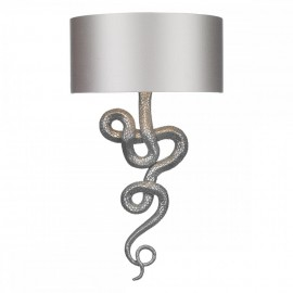 DAVID HUNT LIGHTING, Snake pewter wall light, shade inc.