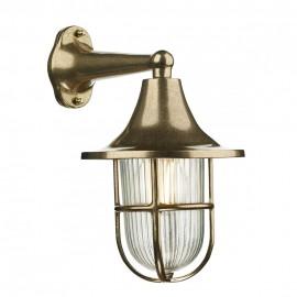 DAVID HUNT LIGHTING, Wadebridge antique brass 1LT wall downlighter