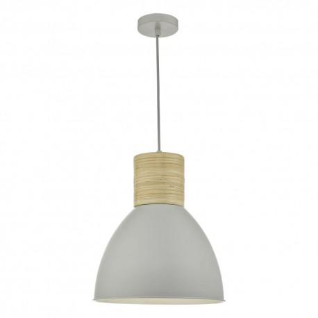 DAR LIGHTING Adna grey & wood pendant