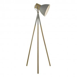 DAR LIGHTNING Adna f/lamp in grey & wood