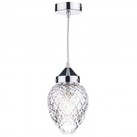 DAR LIGHTING Agatha 1 light polished chrome pendant