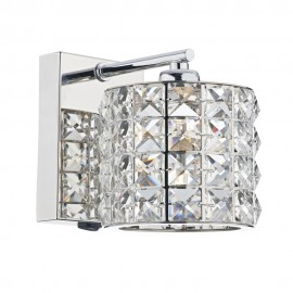 DAR LIGHTING Agneta 1 light polished chrome wall bracket