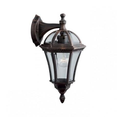 Traditional capri downlight outdoor wall lantern
