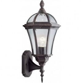 Traditional capri uplight outdoor wall lantern