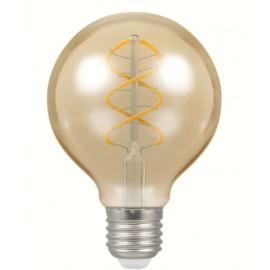 6W antique spiral filament E27 LED globe bulb