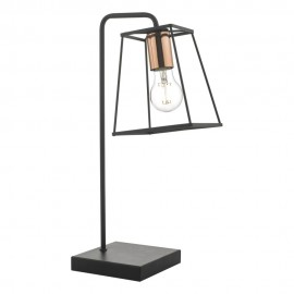 Dar Lighting Tower 1 light black and copper table lamp