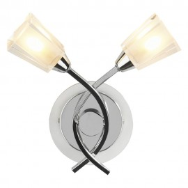 Dar lighting AUS0950 Austin Polished chrome wall light