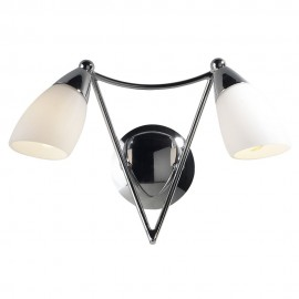 Dar lighting BUR0950 Bureau Polished chrome wall light