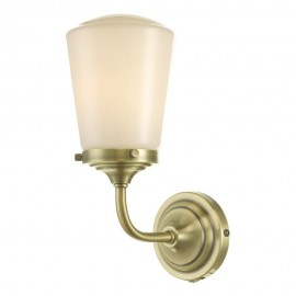 Dar lighting Caden IP44 Antique brass wall light