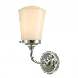 Dar lighting Caden IP44 Polished chrome wall light
